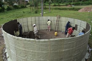 The Water Project:  First Layer Of Inside Plaster