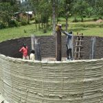 The Water Project: Friends Mixed Secondary School Lwombei -  Setting Pillars For Tank Reinforcement