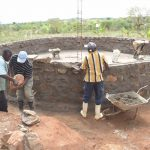 The Water Project: Kalisasi Secondary School -  Building Up The Tank Wall