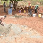 The Water Project: Kalisasi Secondary School -  Mixing Cement And Sand