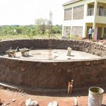 The Water Project: Kalisasi Secondary School -  Tank Wall Progress