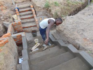 The Water Project:  Stairs Construction
