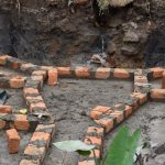 The Water Project: Isanjiro Community, Musambai Spring -  Brick Setting