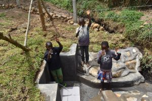 The Water Project:  Children Drinking Clean Water