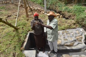 The Water Project:  Mr And Mrs Zebedayo Mutsotsi Cheers To Clean Water