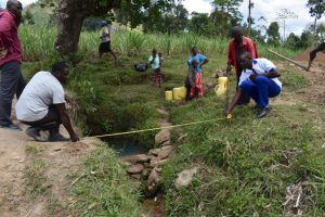 The Water Project:  Spring Site Measurement