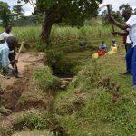 The Water Project: Mukhuyu Community, Gideon Kakai Chelagat Spring -  Ground Breaking
