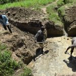 The Water Project: Mukhuyu Community, Gideon Kakai Chelagat Spring -  Excavation Process