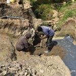 The Water Project: Mukhuyu Community, Gideon Kakai Chelagat Spring -  Laying Spring Foundation