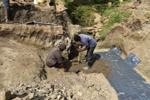 The Water Project:  Laying Spring Foundation