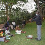 The Water Project: Mukhuyu Community, Gideon Kakai Chelagat Spring -  Handwashing Demonstration