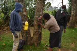 The Water Project:  Installing A Leaky Tin For Handwashing