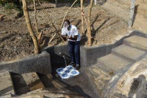 The Water Project:  Field Officer Jonathan Celebrates The Completed Spring