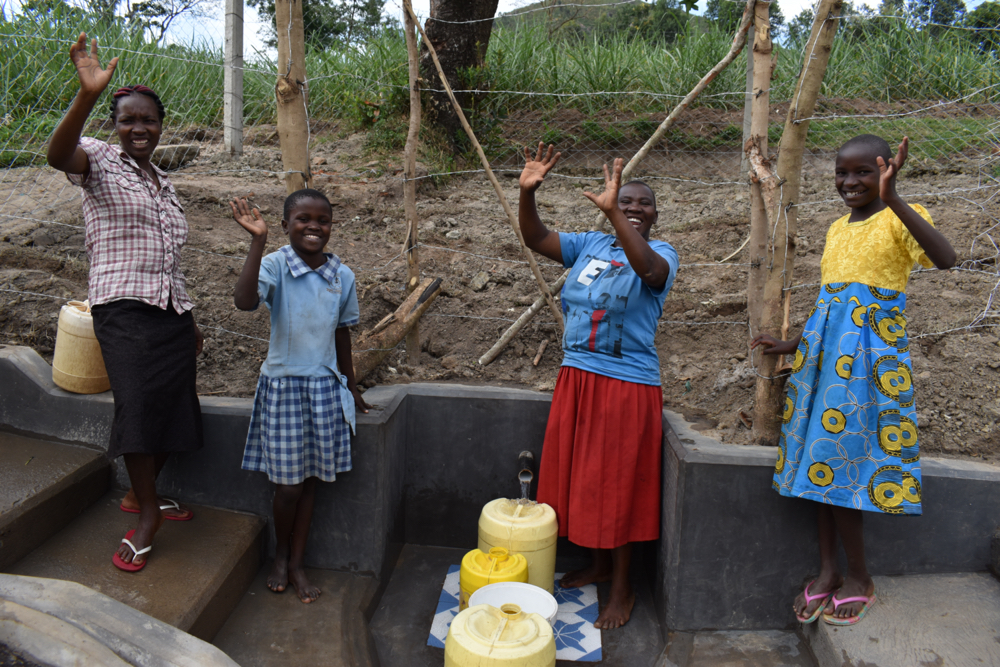 The Water Project : kenya21043-women-and-girls-celebrate-the-spring