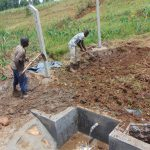 The Water Project: Shihome Community, Oloo Njinuli Spring -  Backfilling With Soil