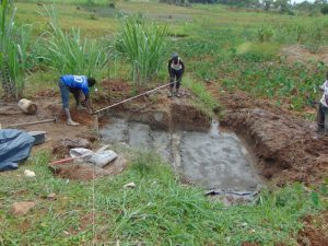 The Water Project:  Taking Fencing Measurements