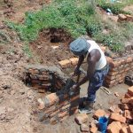 The Water Project: Shihome Community, Oloo Njinuli Spring -  Wall Construction