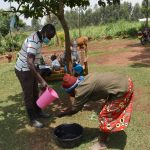 The Water Project: Shihome Community, Oloo Njinuli Spring -  Community Demonstration On Handwashing