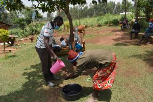 The Water Project:  Community Demonstration On Handwashing