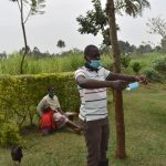 The Water Project: Shihome Community, Oloo Njinuli Spring -  Demonstration On How To Put On And Wear A Surgical Mask