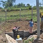 The Water Project: Shihome Community, Oloo Njinuli Spring -  Thumbs Up At The Spring