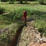 The Water Project: Shianda Commnity, Mukeya Spring -  Diggin Drainage Channel