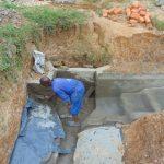 The Water Project: Shianda Commnity, Mukeya Spring -  Outside Plastering