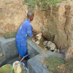 The Water Project: Shianda Commnity, Mukeya Spring -  Backfilling