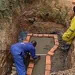 The Water Project: Shianda Commnity, Mukeya Spring -  Brick Setting