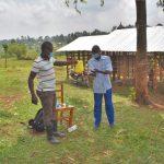 The Water Project: Shianda Commnity, Mukeya Spring -  A Community Member Demonstrates Handwashing