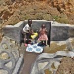 The Water Project: Shianda Commnity, Mukeya Spring -  Children Fetching Water