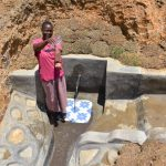 The Water Project: Shianda Commnity, Mukeya Spring -  Elizabeth Celebrating The Spring