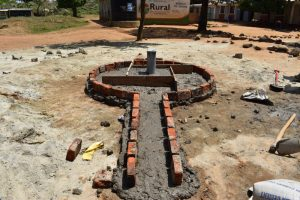 The Water Project:  Set Structure Of A Borehole And Well Pad