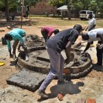 The Water Project: Ibokolo Primary School -  Plaster Works Ongoing