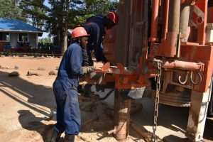 The Water Project:  Changing Drilling Rod