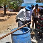 The Water Project: Ibokolo Primary School -  Yield Test
