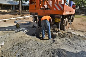 The Water Project:  Clearing For Construction Of Temporary Pad