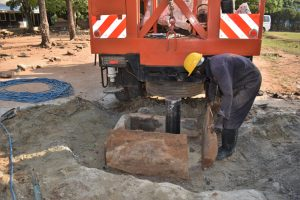 The Water Project:  Constructing Temporary Pad