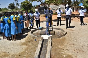 The Water Project:  School Headteacher Tries Out The Pump