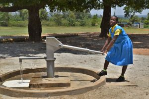 The Water Project:  Sharon Pumping Water
