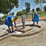 The Water Project: Ibokolo Primary School -  Washing Hands At The Well