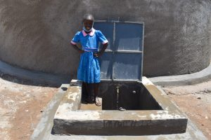 The Water Project:  Sharon At The Rain Tank