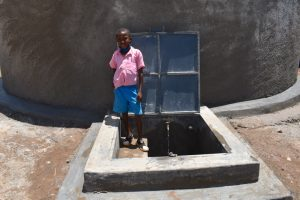 The Water Project:  Clinton At The Rain Tank