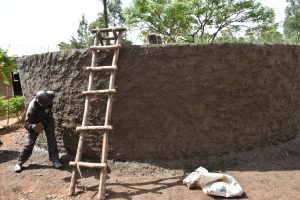 The Water Project:  Plastering The Outer Wall