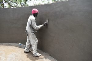 The Water Project:  Smooth Layer Of Cement On The Inside Walls