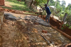 The Water Project:  Setting Latrine Foundation
