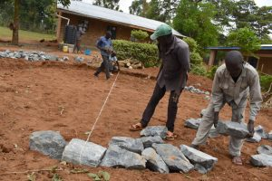 The Water Project:  Measurement And Setting Of The Stones