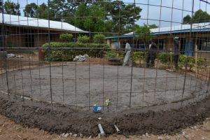The Water Project:  Slab Laying And Setting The Wall Frame In Place