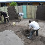 The Water Project: Jimarani Primary School -  Applying The First Layer Of Plaster On The Inside