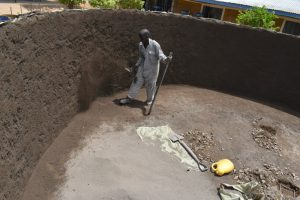 The Water Project:  Plastering The Inside Walls